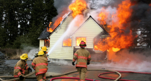 what do when your house is on fire